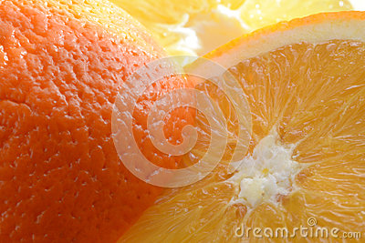 Sliced fresh orange