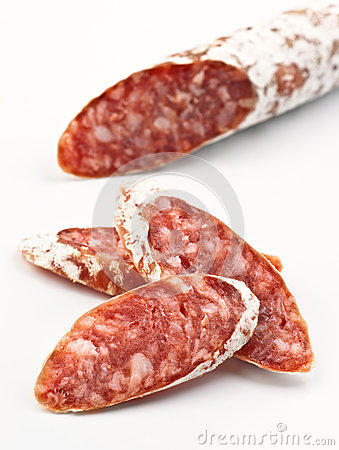 Sliced fuetsausage