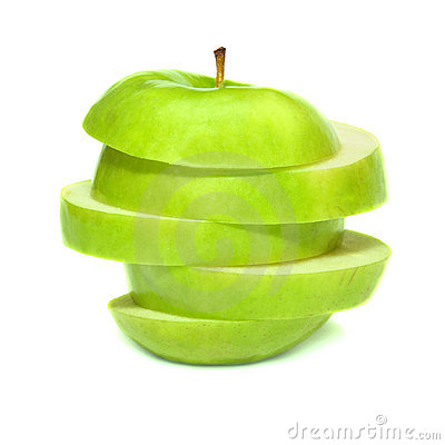Free Sliced Green Apple Stock Image - 16222301
