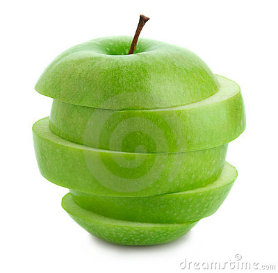 Free Sliced Green Apple Stock Photography - 22489602