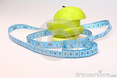 Sliced green apple healthy eating