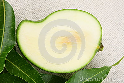 Sliced Green Mango, Stock Photo - Image: 42772060