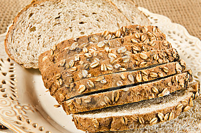 Sliced healthy fresh wholegrain bread