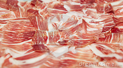 Sliced jamon - spanish cured pork ham