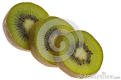 Sliced ??kiwi fruit