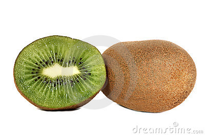 Sliced kiwi fruits