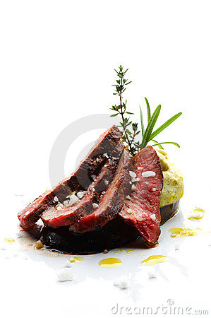 Sliced lamb steak