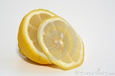 A sliced lemon