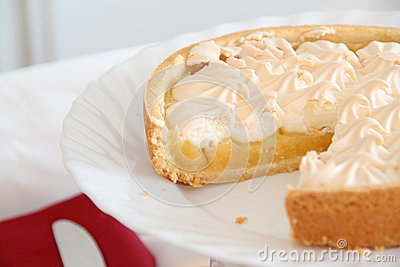 Sliced Lemon Meringue Pie