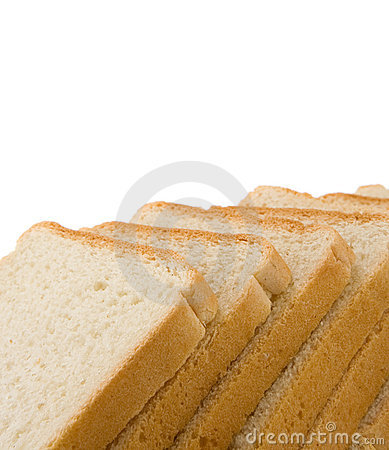Free Sliced Loaf Of Bread Isolated On White Stock Photography - 18213482