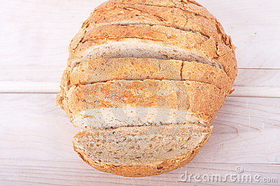 Sliced Loaf of Whole Wheat Bread