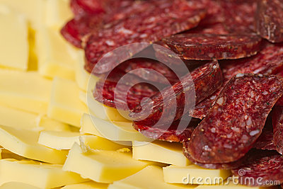 Sliced meat appetizers