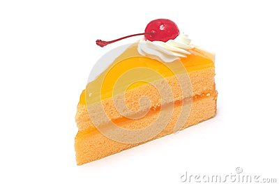 Sliced orange cake
