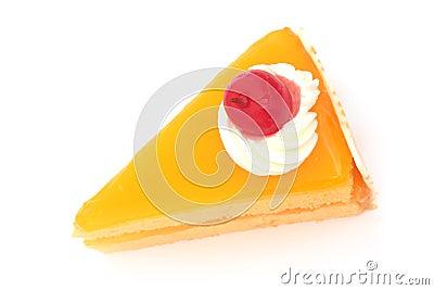 Sliced orange cake