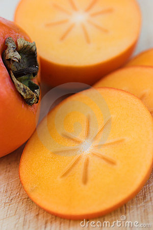 Free Sliced Persimmons Royalty Free Stock Photography - 1634237
