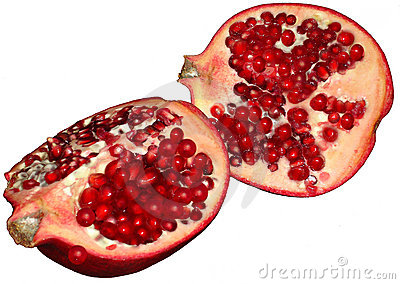Sliced Pomegranate or Chinese Apple