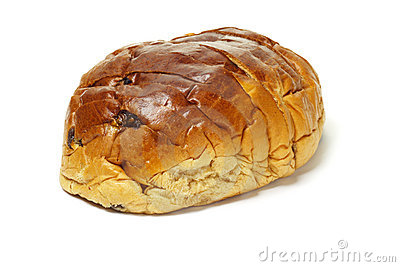 Sliced raisin bun