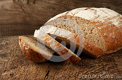 Sliced rye bread