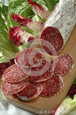 Free Sliced Salami Stock Image - 3688731