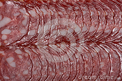 Sliced ​​sausage