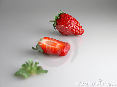 Sliced strawberry Stock Photo
