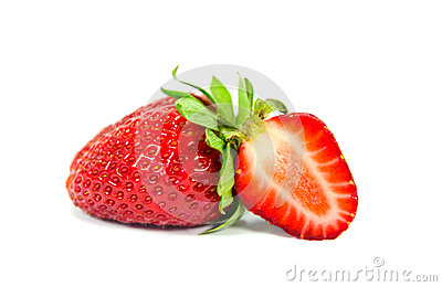 Sliced strawberry isolated