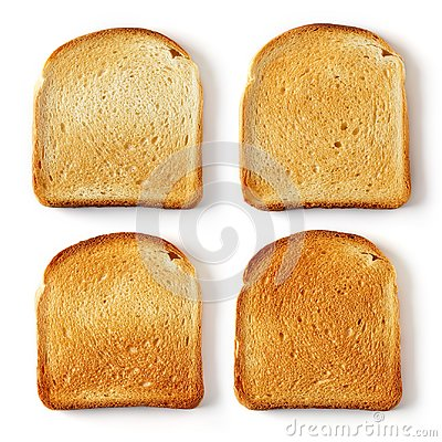 Free Sliced Toast Bread Isolated On White Stock Photo - 110093370