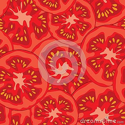 Free Sliced Tomato Seamless Pattern Vector Illustration Royalty Free Stock Photos - 54810208