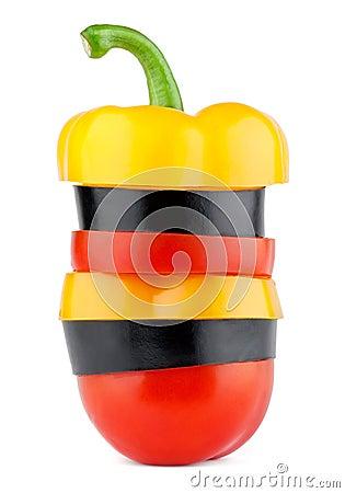 Sliced vegetables mix