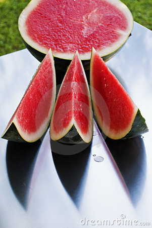 Sliced watermellon