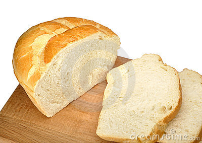 Sliced ​​white bread