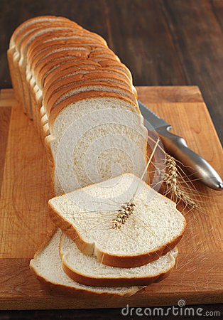 Sliced white bread
