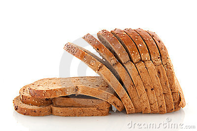 Sliced whole meal bread