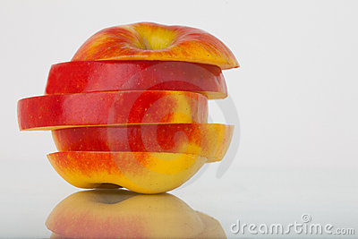 Slices of an apple