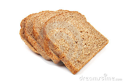 Slices of bread from rye and wheat flour
