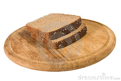 Slices of brown bread on a plate