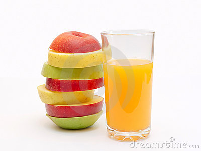 Slices of fruit and juice