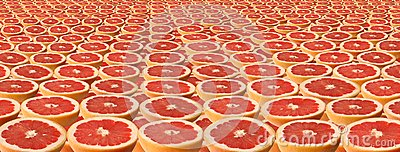 Slices of grapefruit.