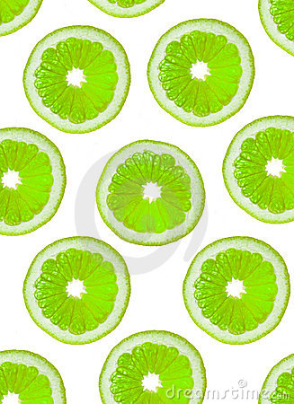 Slices of green fruit