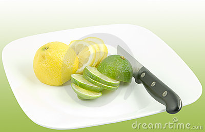 Slices of lemons and limes