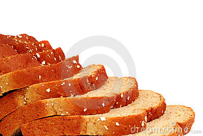 Slices of multi-grained bread