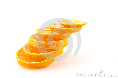Slices of orange tangerine