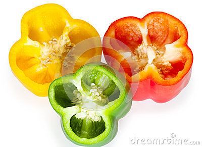 Slices of sweet pepper