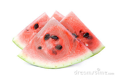Slices of watermelon.