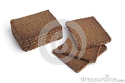 Slices of whole grain rye bread