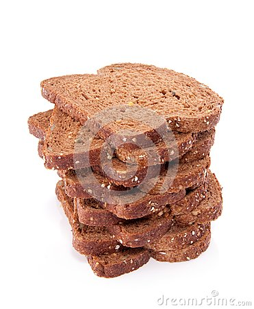 Slices of wholemeal cereal bread