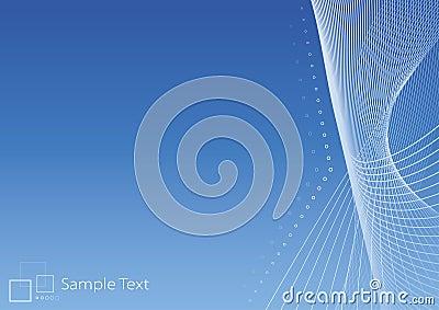 Slick modern blue background