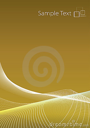 Slick modern golden background