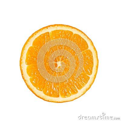Free Slide Circle Cut Of Ripe Fresh Orange Fruit Isolated On The Whit Royalty Free Stock Photography - 96820477