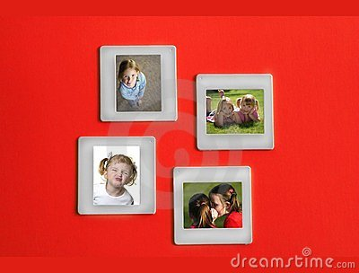 Slide Film Frame Portraits